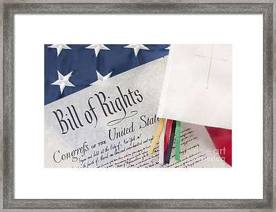 Bill Of Rights By Bible  Framed Print by Cheryl Casey