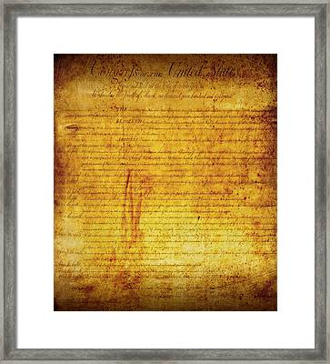 Bill Of Rights Framed Print by Daniel Hagerman