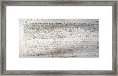 Bill Of Rights, Ny Framed Print