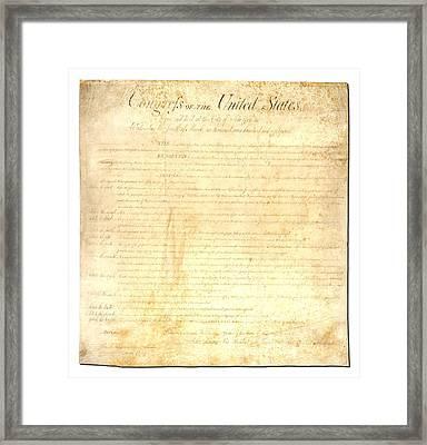 Bill Of Rights Framed Print