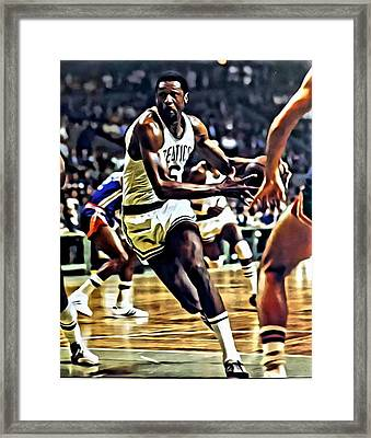 Bill Russell Framed Print by Florian Rodarte