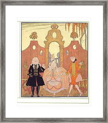 'billet Doux' Framed Print by Georges Barbier