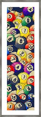 Billiard Balls Abstract Collage Framed Print by David G Paul