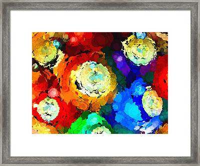 Billiard Balls Abstract Digital Art Framed Print
