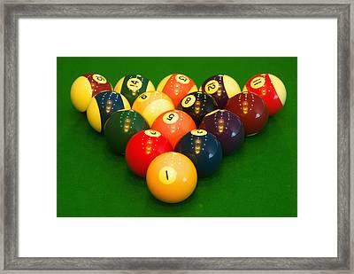 Billiard Game Balls Framed Print