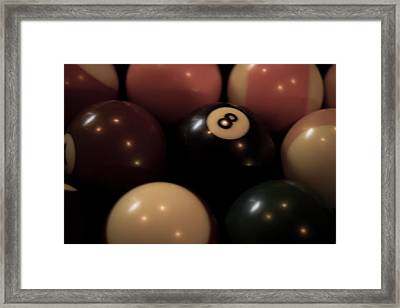 Billiard Framed Print by Lauren Goia