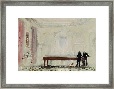 Billiard Players At Petworth House Framed Print by Joseph Mallord William Turner