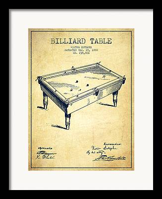 Billiard Digital Art Framed Prints