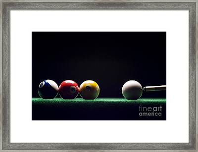Billiard Framed Print by Tony Cordoza