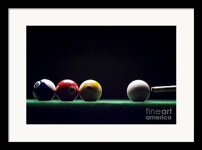 Pool Balls Framed Prints