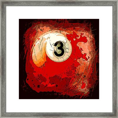 Billiards 3 Ball Abstract Framed Print by David G Paul
