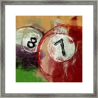 Billiards 8 And 7 Framed Print by David G Paul