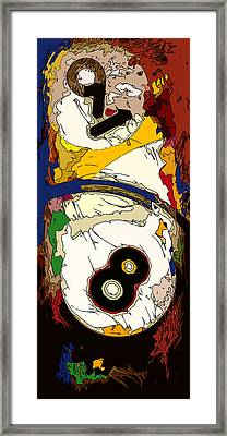 Billiards 8 And 9 Ball Abstract Framed Print by David G Paul