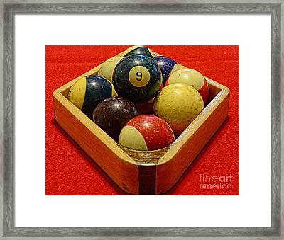 Billiards - 9 Ball - Pool Table - Nine Ball Framed Print by Paul Ward