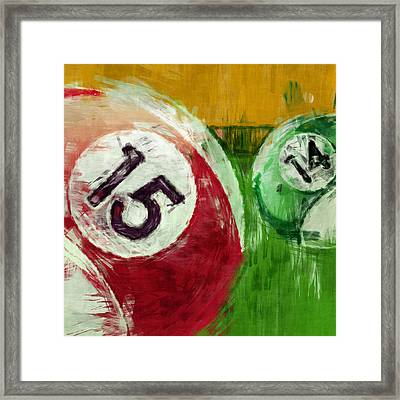 Billiards Abstract 15 14 Framed Print