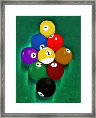 Billiards Art - Your Break 1 Framed Print by Lesa Fine