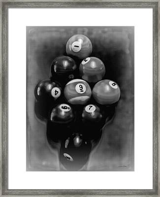 Billiards Art - Your Break - Bw  Framed Print