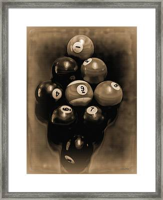 Billiards Art - Your Break - Bw Opal Framed Print