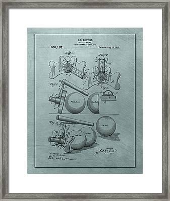 Billiards Bridge Patent Framed Print by Dan Sproul