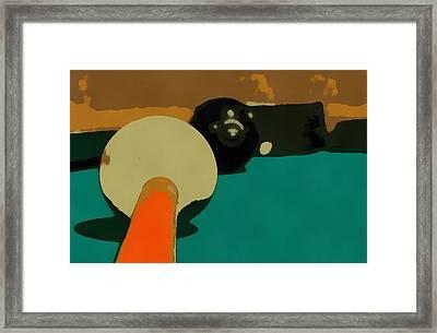 Billiards Pop Art Framed Print by Dan Sproul