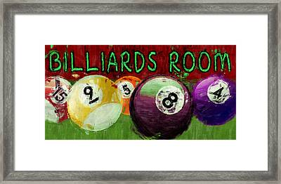 Billiards Room Abstract  Framed Print by David G Paul