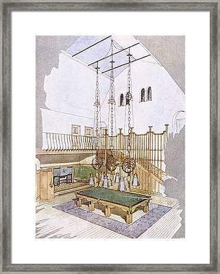 Billiards Room, Designed By George Framed Print