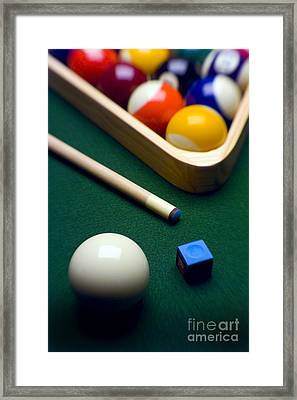 Billiards Framed Print by Tony Cordoza