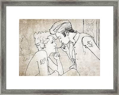 Billie And The Showgirl Framed Print