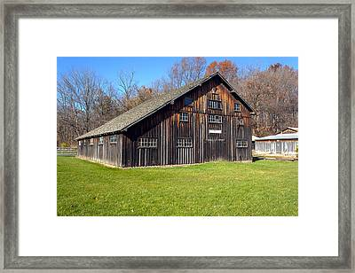 Billie Creek Barn Framed Print by Thomas Sellberg