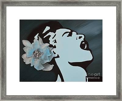 Billie Holiday Framed Print by Alys Caviness-Gober