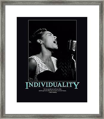 Billie Holiday Individuality   Framed Print by Retro Images Archive