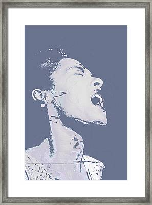 Billie Holiday Framed Print by Tony Rubino