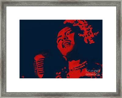 Framed Print featuring the painting Billie Holiday by Vannetta Ferguson