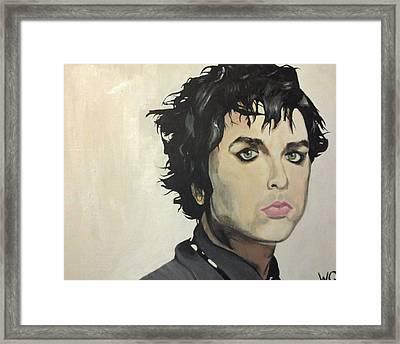 Billie Joe Armstrong Framed Print by Willow Quillen