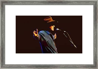 Billie Joe Shaver Framed Print by GCannon