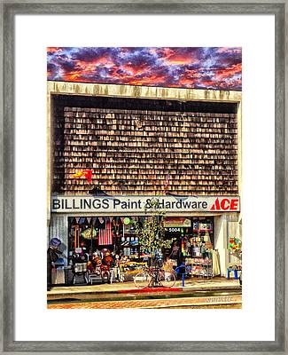Billings Hardware Framed Print by Bob Winberry