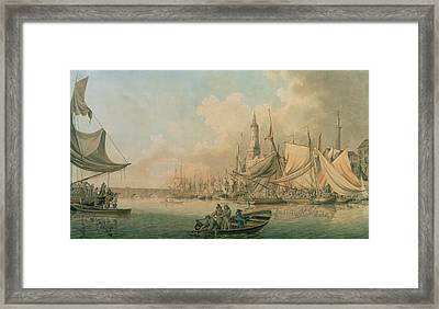 Billingsgate At High Water Framed Print by Robert Cleveley