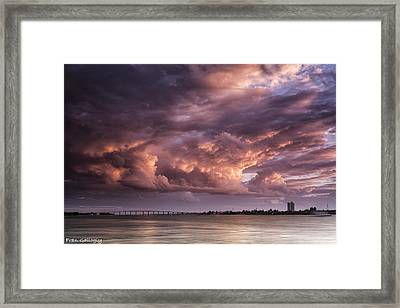 Billowing Clouds Framed Print