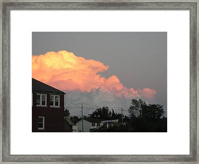 Billowing Glory Framed Print