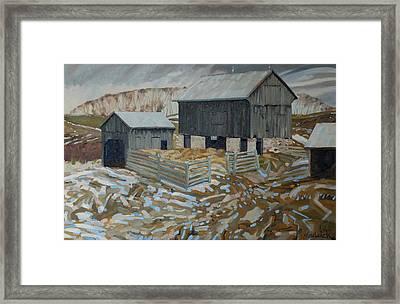 Bill's Barns Framed Print by Phil Chadwick