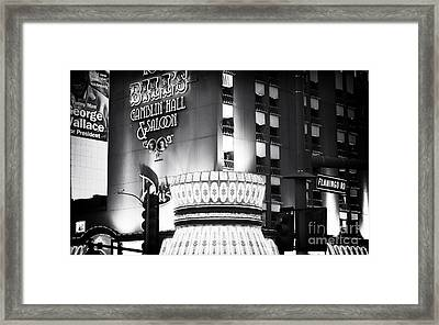 Bill's Gamblin Hall Framed Print by John Rizzuto