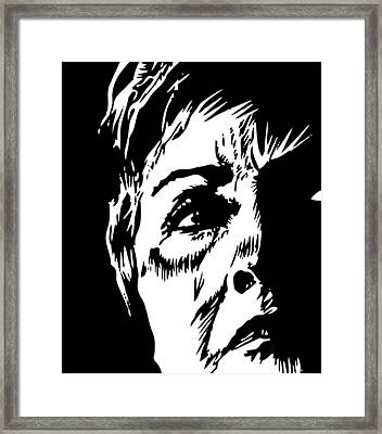 Bill's Old Lady Framed Print by Phil Wooley