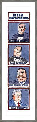 Bills Outstanding Framed Print by Jack Ziegler