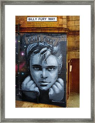 Billy Fury Way Framed Print by Stephen Norris