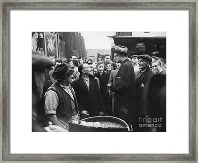 Billy Graham Jr. On A Boston Street 1950 Framed Print by The Harrington Collection