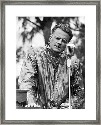 Billy Graham Jr. Speaking In Boston 1950 Framed Print