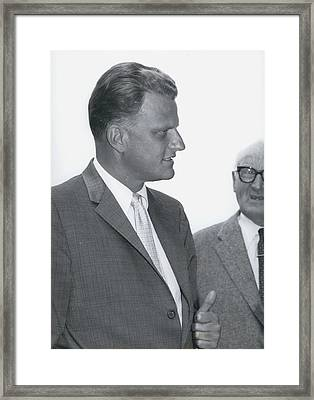 Billy Graham, �the Greatest Evangelist Of Our Times� Framed Print by Retro Images Archive