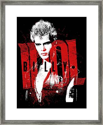 Billy Idol - Billy Framed Print by Epic Rights
