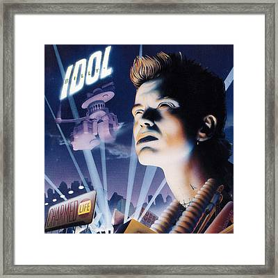 Billy Idol - Charmed Life 1990 Framed Print by Epic Rights