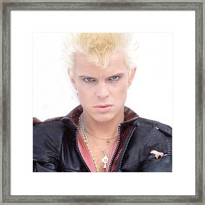 Billy Idol - Early Years Framed Print by Epic Rights